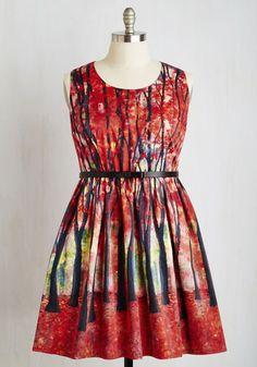Coveting this dress HARD.   Festive Frondescence Dress | Mod Retro Vintage Dresses | ModCloth.com