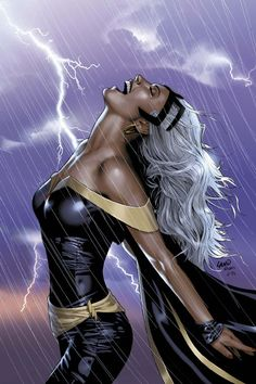 Storm by Greg Land (Uncanny X-Men #449 cover art)