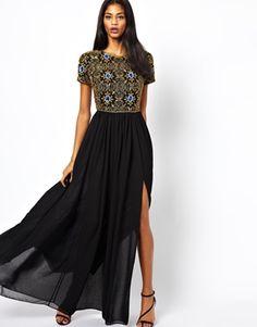 Image 1 ofVirgos Lounge Selene Maxi Dress with Embellished Top