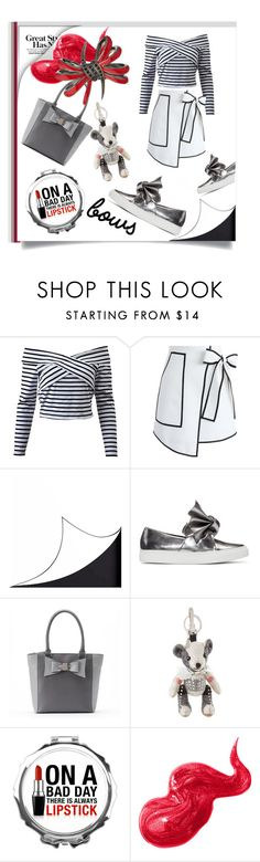 """Put a Bow on It!"" by kari-c ❤ liked on Polyvore featuring Chicwish, DOMESTIC, Cédric Charlier, Apt. 9, Burberry, Bobbi Brown Cosmetics, Stephen Webster and bows"