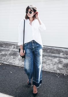 Look to Try: Denim Culottes — BADLANDS