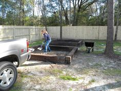 Raised Vegetable Beds With Railroad Ties   I Came Up With This Idea Too And  I Wonder If This Is Safe With The Chemicals In The Wood?