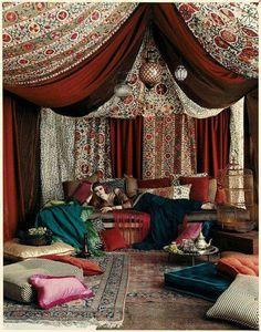Moroccan Theme Party, Moroccan Decor, Turkish Decor, Turkish Style, Turkish Design, Arabian Nights Party, Arabian Nights Bedroom, My New Room, Bohemian Decor