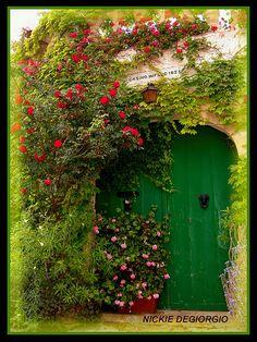 home sweet home door. Cool Doors, Unique Doors, Portal, Garden Doors, Garden Gates, Entrance Doors, Doorway, Front Doors, Jardin Luxuriant