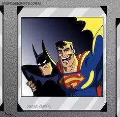 """Batman and Superman selfie"""