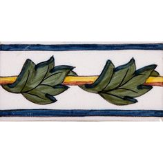 Acanthus Border Spanish Glazed Ceramic Tiles 2x4 | Country Floors of America