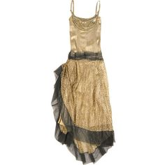 One Vintage|Reworked 1920s Xtianus dress| ($2,705) ❤ liked on Polyvore