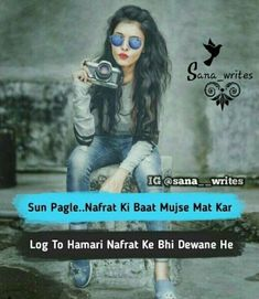 Happy Girl Quotes, Bad Quotes, Love Quotes Poetry, Girly Quotes, Real Life Quotes, Quotes In Hindi Attitude, Attitude Quotes For Girls, Girl Attitude, Attitude Shayari