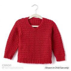 Adult Crochet V-Neck Pullover