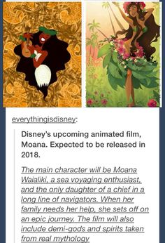 I feel like this is a mixture of Lilo and Stitch, Pocahontas, and Hercules... Beyond excited
