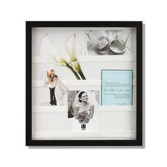 Display wedding keepsakes with the Envelope Shadow Box by Umbra. #wedding #shower #gift $35