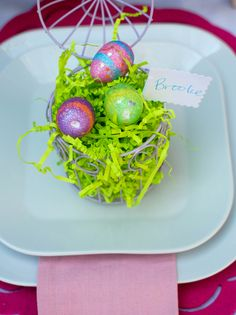 Easter Place Setting - easy DIY Easter place cards