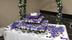 Chocolate & white, shades of purple cream cheese