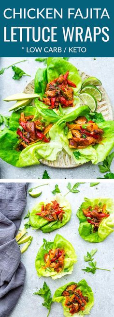 Chili Lime Chicken Lettuce Wraps – fresh, flavorful and a healthier way to enjoy tacos or fajitas! Less than 30 minutes to make with a homemade seasoning and perfect for lunch or a lightened up dinner for busy weeknights! They are also gluten free, low carb, Keto and Paleo friendly, whole 30 compliant and a healthy meal for your own Cinco de Mayo or Mexican fiesta. #paleo #fajitas #chicken #whole30 #keto #lettucewraps #taco #cincodemayo #lunch #dinner