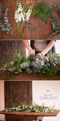 Garland and Wintry Wreaths from Daisy Rose Floral Design - Style Me Pretty