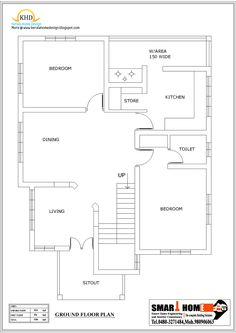 Small House Plans Kerala Style House Plans 3 Bedroom, Dream House Plans, House Floor Plans, Home Gate Design, Home Engineering, Early American Homes, Beautiful Small Homes, Architectural House Plans, Simple House Plans