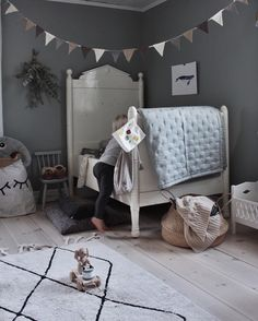 In case you missed it, our Boxing Day Sale has been extended! You can continue to shop our entire store at off when you enter code STYLISHKIDS at checkout. Sale is on until Midnight tonight. Gorgeous room featuring our Tellkiddo closed eye storage sack. Girls Bedroom, Bedroom Decor, Deco Kids, Little Girl Rooms, Kid Spaces, Kids Decor, Boy Room, Interior Design Living Room, Decoration