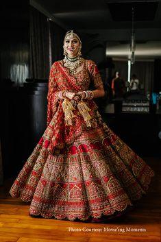 Ravishing Red Payal Keyal and Asiana Couture Bridal Lehenga - Source by weddingsutra - Design interests