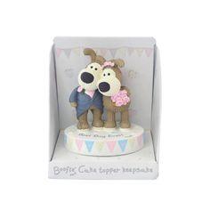Boofle Bride & Groom Wedding Cake Topper