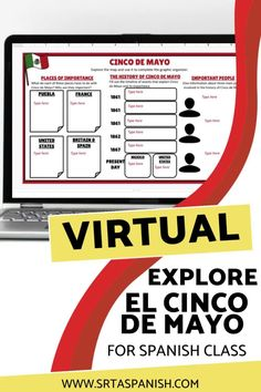 Need some ideas for Cinco de Mayo in your classroom? Check out these lesson plans and activities to help teach your classes the history of Cinco de Mayo in Mexico and the United States! Digital resources like websites, videos, Edpuzzles, virtual activities, interactive maps, Boom cards, and more make it easy to teach about Cinco de Mayo with no prep! Great sub plans too! Spanish 1, Spanish Class, Help Teaching, Teaching Spanish, Middle School Spanish, Spanish Lesson Plans, Maps, Mexico, United States