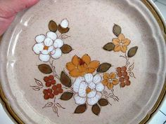 Autumn Blossom by Crown Manor Stoneware by WHISTLESTOPTRAINSHOP