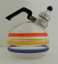Vintage GlasbakeMcKee Banded Glass Whistling Tea by KeystoneKarma
