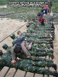 Soldiers doing more than expected. This also happens in Nepal.