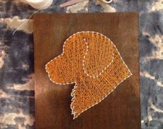 Custom dog string art