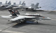 PACIFIC OCEAN (Nov. 1, 2012) – An F/A-18E Super Hornet assigned to the Argonauts of Strike Fighter Squadron (VFA) 147 lands aboard the flight deck of the aircraft carrier USS Nimitz (CVN 68). Nimitz is currently underway participating in its Composite Training Unit Exercise. (U.S. Navy photo by Mass Communication Specialist 3rd Class Ryan J. Mayes/Released)