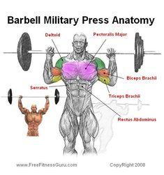 Overhead shoulder press: