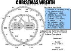 LIONEL FASTRACK CHRISTMAS TREE WREATH LAYOUT 6'x6' pack Train Track Design NEW #Lionel #TrainTracks