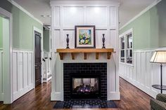 16 Gorgeous Double Sided Fireplace Design Ideas, Take A Look ! 16 Gorgeous Double Sided Fireplace Design Ideas, Take A Look ! Unfinished Basement Bedroom, Basement Living Rooms, Sunken Living Room, Living Room Remodel, Living Room With Fireplace, Basement Doors, Basement Plans, Basement Storage, Basement Ideas