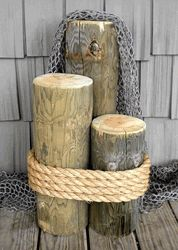 Extra Large Cedar Wood Piling 2' #7658 Nautical Seasons