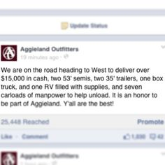 Aggies, y'all are all amazing. This would only ever happen in Aggieland.