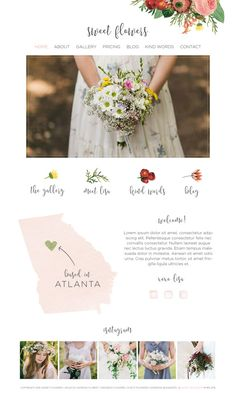 Wix Website design vintage florist website by SunnyBlossomDesigns