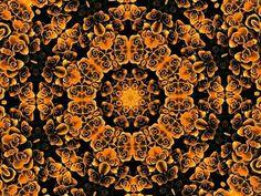 Orange and black mandala