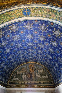 Extraordinary #mosaics. Ravenna in Italy Galla Placidia.