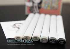 Copic Tutorial: Vintage Black & White Coloring via @Some Odd Girl