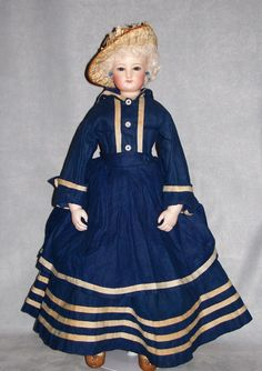 """17"""" French Fashion ~ Kid Over Wood Body ~ Antique Costume from faraway on Ruby Lane"""
