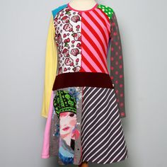 brilliant upcycled tee dress by dressme of Etsy