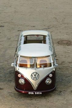 Lovely rag top split screen VW Camper