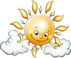 Sun with Clouds Free PNG Picture Clipart
