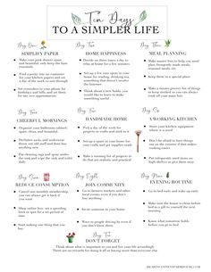 This article discusses ten lifestyle changes, large and small, that you can make to start living a simpler life in ten days. Hygge, Living Vintage, Stress, Routine, Self Care Activities, Life Organization, Organizing Life, Organising, Minimalist Lifestyle