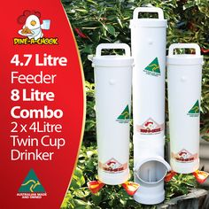 As seen in Bunnings, Mitre 10 and many other major pet and produce stores around the country. Dine a Chook Drinker & Feeder Sets –theORIGINAL Dine a Chook – Now even Better! If you are looking for a feeder and drinker set for your chickens, then look no further. Become our next happy customer and …
