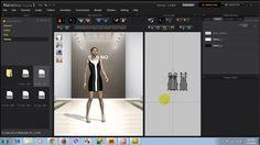 Mô trả người mẫu catwalk trên phần mềm 3D