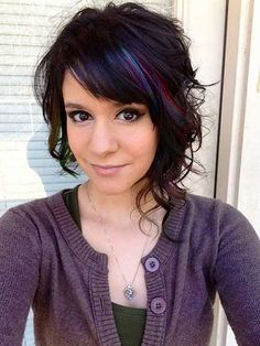 The best collection of Short Asymmetrical Hairstyles & Hair Trends Pretty Hairstyles, Bob Hairstyles, Short Haircuts, Hairstyle Ideas, Pinterest Hairstyles, Medium Haircuts, Stylish Hairstyles, Curly Asymmetrical Bob, Asymmetric Bob