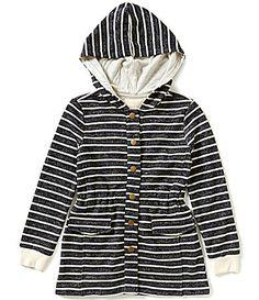 Copper Key Big Girls 716 Striped Terry Hooded Jacket #Dillards