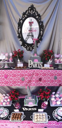 29 ideas birthday themes for teens sweet 16 awesome for 2019 Paris Birthday Parties, Birthday Party Themes, 11th Birthday, Birthday Stuff, Birthday Ideas, Paris Party Decorations, Teen Girl Parties, Paris Baby Shower, Parisian Party