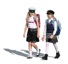 two cut out schoolgirls walking Cut Out People, Walking, Punk, Style, Fashion, Swag, Moda, Fashion Styles, Walks