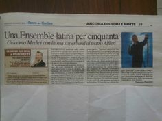 Newspaper - Giacomo Medici latin ensemble